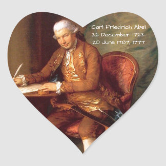 Carl Friedrich Abel Heart Sticker