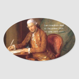 Carl Friedrich Abel Oval Sticker