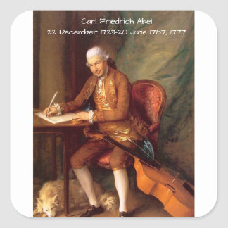 Carl Friedrich Abel Square Sticker
