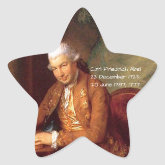 Carl Friedrich Abel Star Sticker