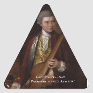 Carl Friedrich Abel Triangle Sticker