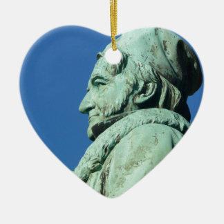 Carl Friedrich Gauß (Gauss), Braunschweig Ceramic Heart Ornament