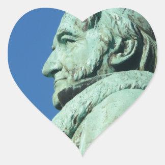 Carl Friedrich Gauß (Gauss), Braunschweig Heart Sticker
