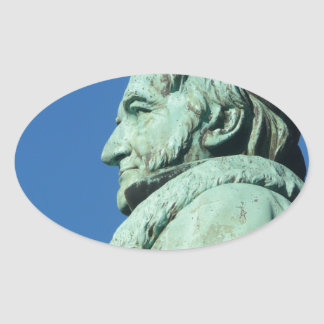 Carl Friedrich Gauß (Gauss), Braunschweig Oval Sticker