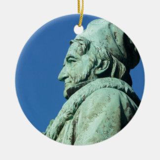 Carl Friedrich Gauß (Gauss), Braunschweig Round Ceramic Ornament