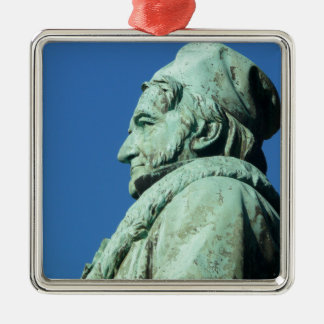 Carl Friedrich Gauß (Gauss), Braunschweig Silver-Colored Square Ornament
