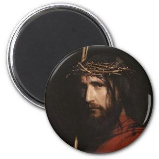 Carl Heinrich Bloch - Christ Detail Fridge Magnets