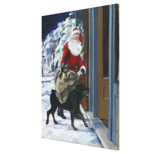 Carl Helping Santa Claus from <Carl's Christmas> b Canvas Print