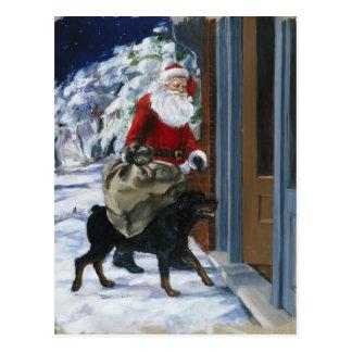 Carl Helping Santa Claus from <Carl's Christmas> b Postcard