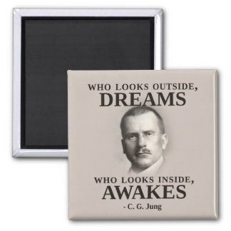 Carl Jung Inspirational Quote Magnet