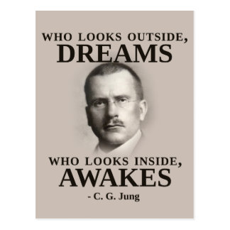 Carl Jung Inspirational Quote Postcard