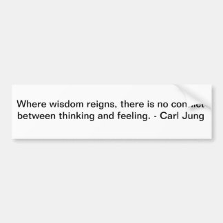 Carl Jung on Wisdom Bumper Sticker