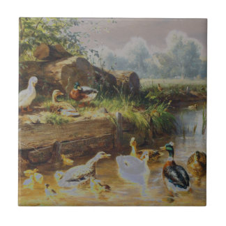 Carl Jutz - Ducks at the Brook (Modified) Tile