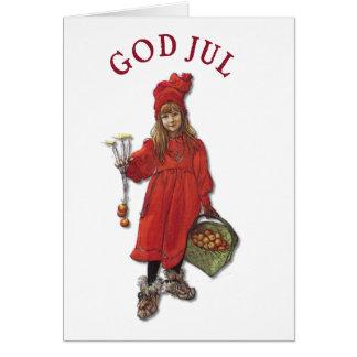 Carl Larsson Art Brita Wishes You God Jul Card