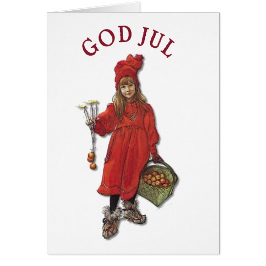Carl Larsson Art Brita Wishes You God Jul Card