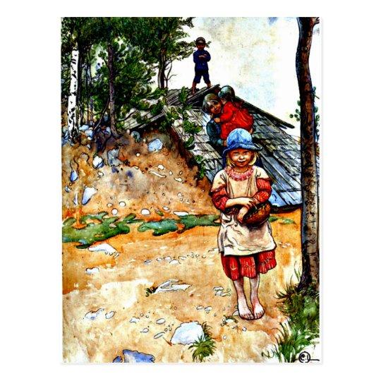 Carl Larsson art: By the Cellar Postcard