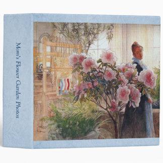 Carl Larsson Azalea Floral Fine Art Customizable Vinyl Binder