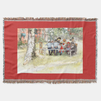 Carl Larsson Breakfast Birch Tree Family Throw