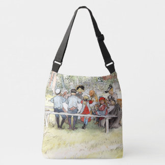 Carl Larsson Breakfast Birch Tree Family Tote Bag