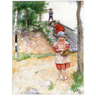 Carl Larsson By The Cellar Family Dry Erase Board