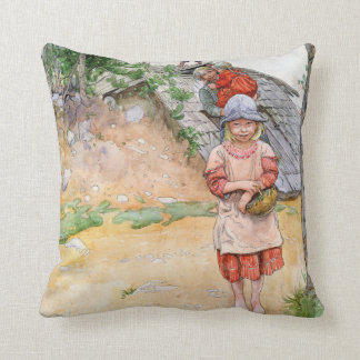 Carl Larsson By The Cellar Family Throw Pillow