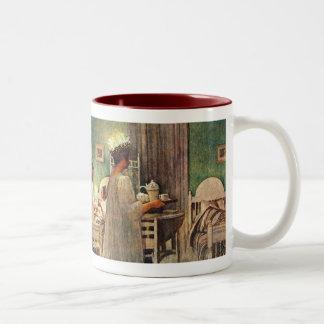 Carl Larsson Christmas Lucia Two-Tone Coffee Mug