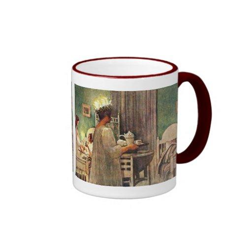 Carl Larsson Christmas Lucia Coffee Mugs