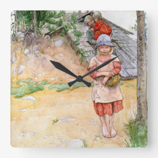 Carl Larsson Family Daughter Painting Wall Clock