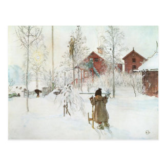 Carl Larsson  Front Yard and the Wash House Postcard