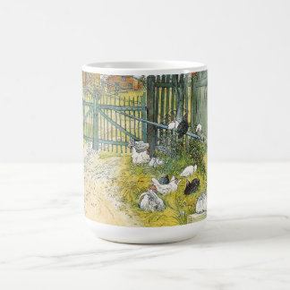 Carl Larsson Gate Chickens Rabbit Cat Mug