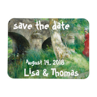 Carl Larsson Lady Pond Save Date Magnet