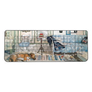 Carl Larsson Lazy Nook Dog Living Room Keyboard