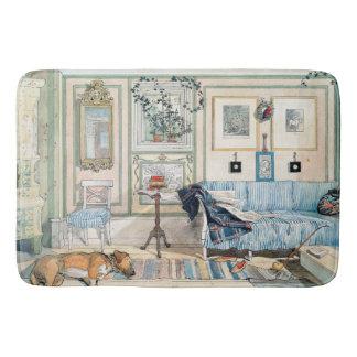 Carl Larsson Living Room Home Dog Bath Mat