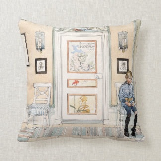Carl Larsson  Living Room Son Home Throw Pillow