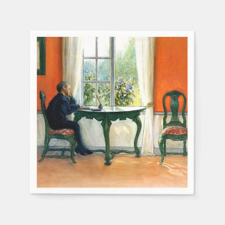 Carl Larsson - Required Reading Paper Napkins