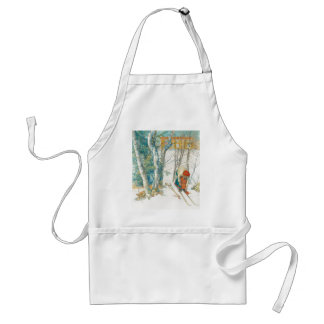 Carl Larsson Skis Winter Snow Daughter Apron