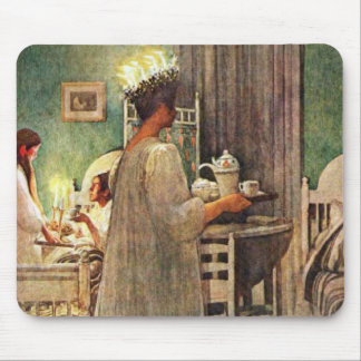 Carl Larsson St. Lucia Day Christmas in Sweden Mouse Pad