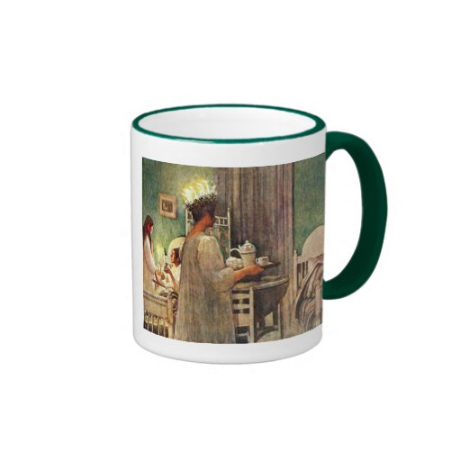 Carl Larsson St. Lucia Day Christmas in Sweden Mug
