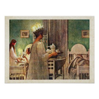 Carl Larsson St. Lucia Day Christmas in Sweden Poster