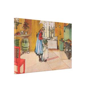Carl Larsson The Kitchen Canvas Print