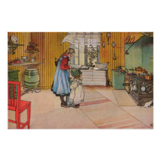 Carl Larsson The Kitchen Poster