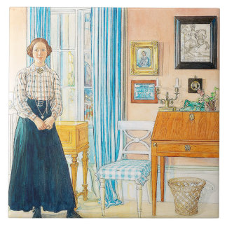 Carl Larsson Watercolor Family Painting Tile