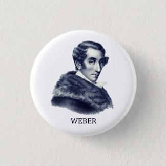 Carl Maria von Weber, blue 1 Inch Round Button