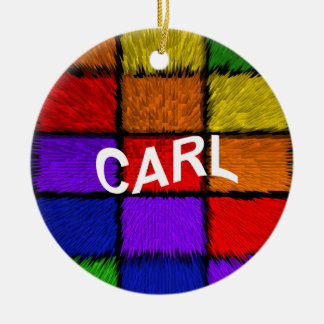CARL ROUND CERAMIC ORNAMENT