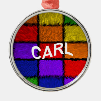 CARL Silver-Colored ROUND ORNAMENT