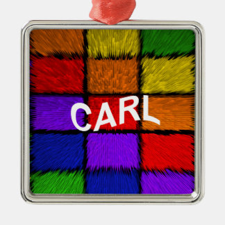 CARL Silver-Colored SQUARE ORNAMENT