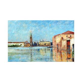 Carl Skånberg Doge's Palace Venetian Canal Scene Canvas Print