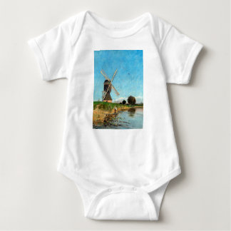 Carl Skånberg Landscape with Windmill Baby Bodysuit