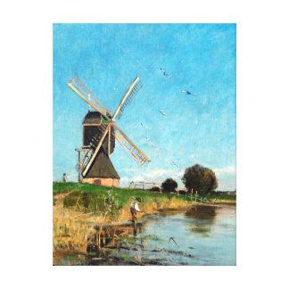 Carl Skånberg Landscape with Windmill Canvas Print