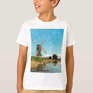 Carl Skånberg Landscape with Windmill T-Shirt
